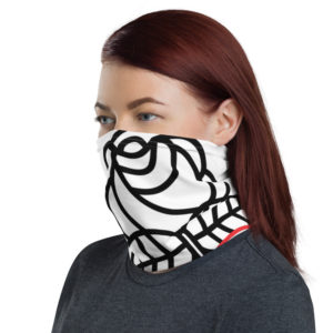 Democractic Socialists of America White Neck Gaiter Face Mask